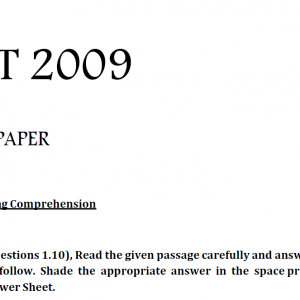 C.L.A.T. General English Question Paper 2 2009 Solved