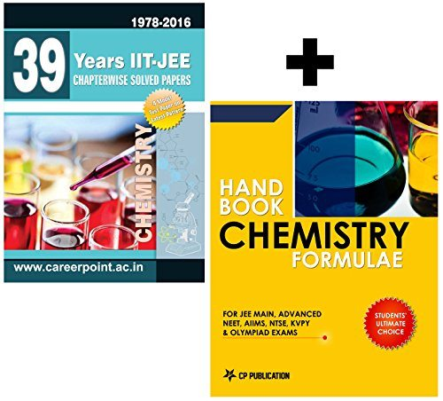39 Years JEE Chemistry Chapter Wise Solved Papers (2016-1978) + Chemistry Formulae Book By Career Point