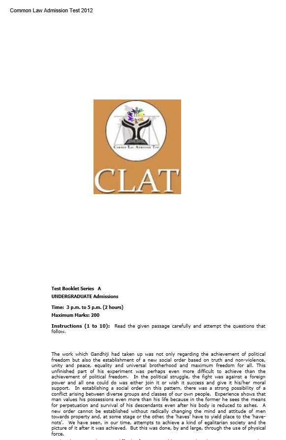 CLAT BOOKLET TEST SERIES