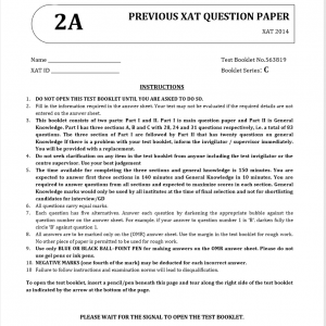 XAT- Previous Question Papers & Solutions 2014
